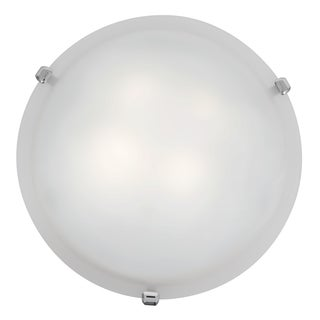 Access Lighting Mona LED 16-inch Wall/ Flush Mount, Chrome with White