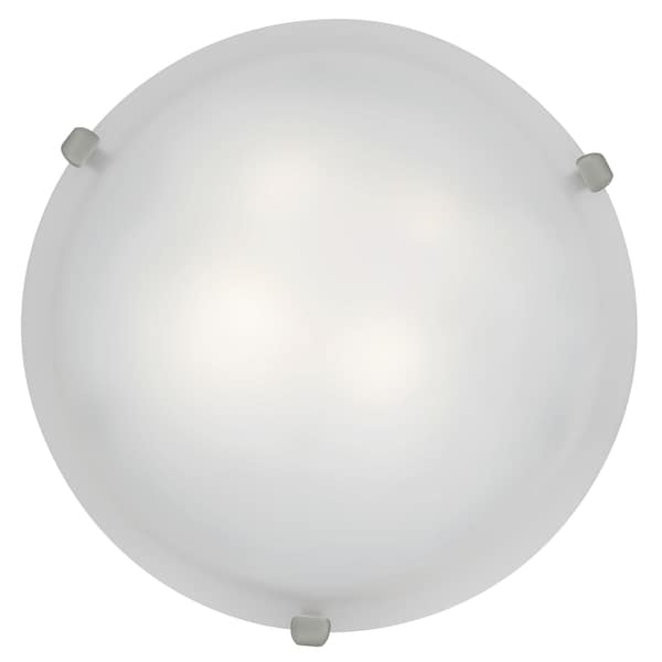 Access Lighting Mona LED 16-inch Wall/ Flush Mount, Brushed Steel