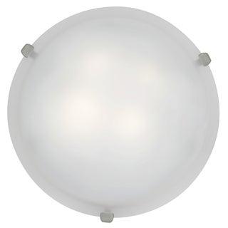 Access Lighting Mona LED 16-inch Wall/ Flush Mount, Brushed Steel