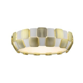 Access Lighting Layers LED 22-inch Flush Mount, Gold