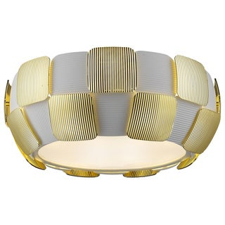 Access Lighting Layers LED 14-inch Flush Mount, Gold