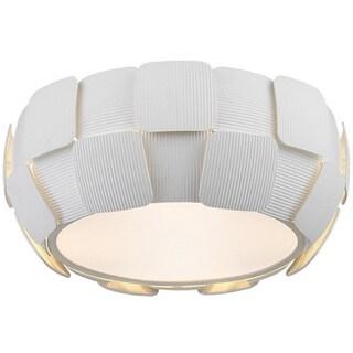 Access Lighting Layers 4-light 14-inch Flush Mount, White