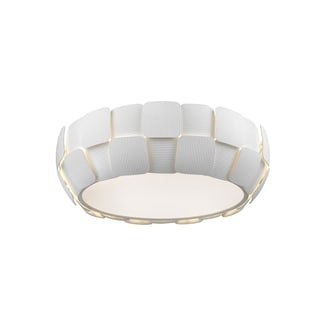 Access Lighting Layers 4-light 18-inch Flush Mount, White