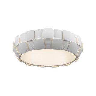 Access Lighting Layers 6-light 22-inch Flush Mount, White