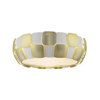 Access Lighting Layers 4-light 18-inch Flush Mount, Gold