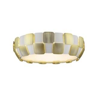 Access Lighting Layers 6-light 22-inch Flush Mount, Gold