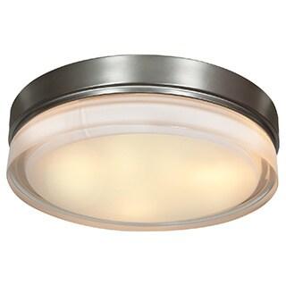 Access Lighting Solid LED 11-inch Flush Mount, Brushed Steel