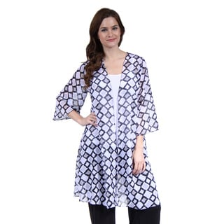 24/7 Comfort Apparel Women's 3/4 Sleeve Layering Shrug
