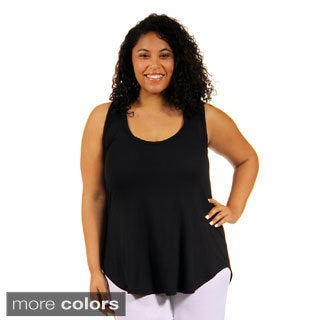 24/7 Comfort Apparel Women's Plus-Size Racerback Tunic