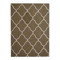 Herat Oriental Indo Hand-tufted Contemporary Design Wool Rug - 5' x 7'