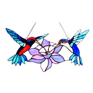 Chloe Tiffany Style Hummingbird Design Window Panel/Suncatcher