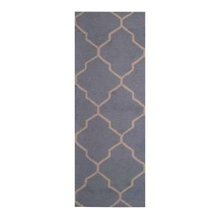 Herat Oriental Indo Hand-tufted Contemporary Design Wool Runner (2'6 x 7')