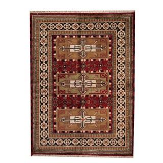 Herat Oriental Indo Hand-knotted Tribal Kazak Wool Rug (5'8 x 7'9)