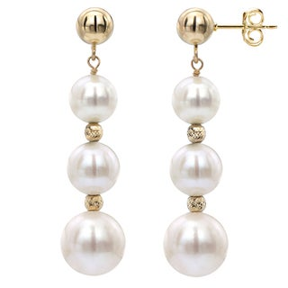DaVonna White Freshwater Graduated Pearl and Beads Dangle Earring (2 options available)