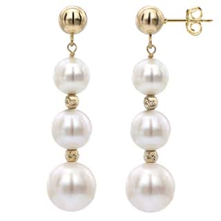 Davonna White Freshwater Graduated Pearl And Beads Dangle Earring