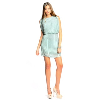 Sara Boo Women's Light Green Sequin Dress
