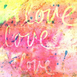 Marmont Hill Art Collective 'Love Love Love' Canvas art