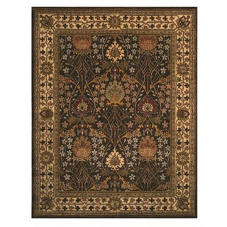 Hand-tufted Wool Brown Traditional Oriental Morris Rug (6' Square)