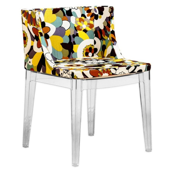 Acrylic Fl Accent Dining Side Chair