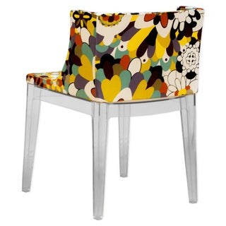 Mod Made Acrylic Floral Accent Chair