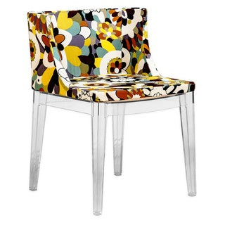 Mod Made Acrylic Floral Accent Dining Side Chair