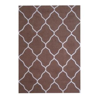Herat Oriental Indo Hand-tufted Contemporary Design Wool Rug (5' x 7')