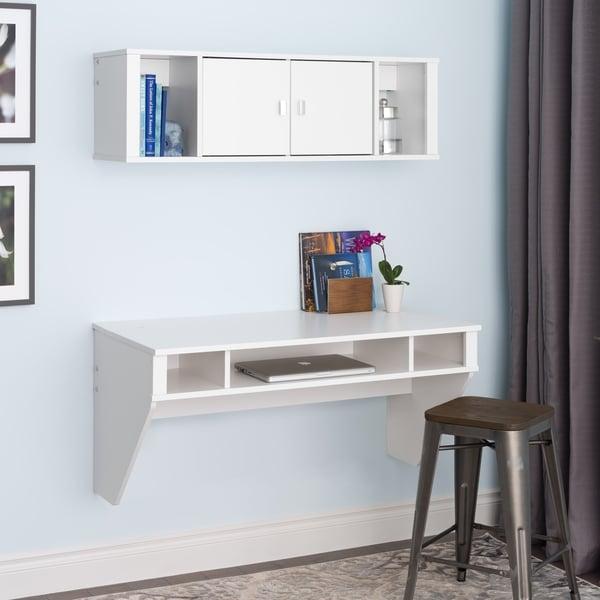 SOHO White Desk and Hutch Set