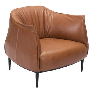 Julian Mid-century Inspired Leatherette Occasional Chair