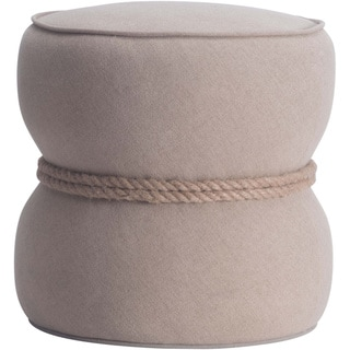 Tubby Rope-wrapped Fabric Ottoman