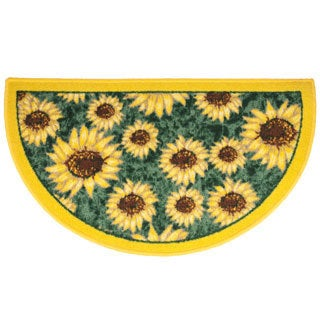 Sunflower Slice 18 x 30-inch Kitchen Rug