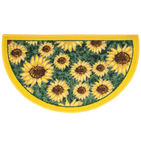 Sunflower slice 18 x 30 inch kitchen rug free shipping on orders over 45 - Yellow kitchen floor mats ...