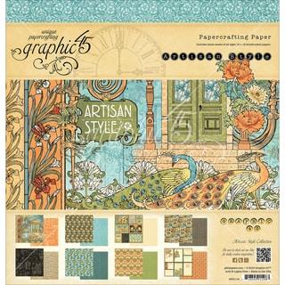 "Graphic 45 Paper Pad 12""X12"" 24/Pkg-Artisan Style"