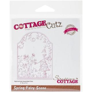 "CottageCutz Elites Die-Spring Fairy Scene 3""X4"""
