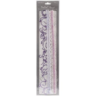 Bella! Bling & Fabric Trim Embellishments-Purple