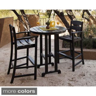 Ivy Terrace Clics 3 Piece Outdoor Bar Set With Table