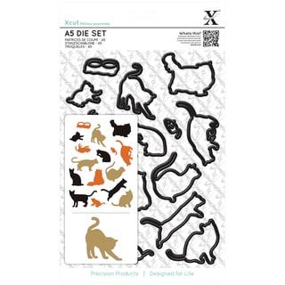 Xcut A5 Die Set 16/Pkg-Mixed Cats
