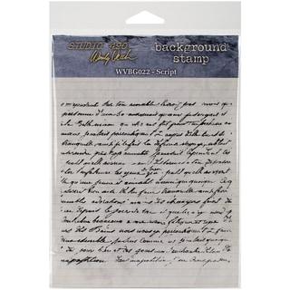 "Wendy Vecchi Cling Rubber Stamp 5""x5"" -Script"
