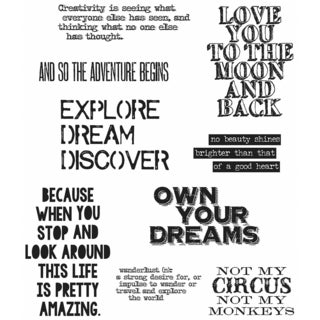 "Tim Holtz Cling Rubber Stamp Set 7""X8.5""-Life Quotes"