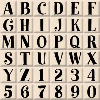 "Inkadinkado Mounted Rubber Stamp  -Bills Alphabet Uppercase Set 3""X3"""