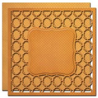 """Spellbinders Nestabilities 6""""X6"""" Card Creator Dies-Labels 1 Card Front"""