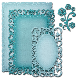 Spellbinders Nestabilities Decorative Elements Dies-Romantic Rose