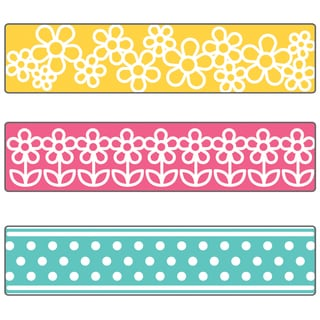 Sizzix Textured Impressions A2 Embossing Folder W/3 Borders-Flowers & Dots By Stephanie Barnard