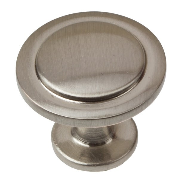 GlideRite 1.25-inch Satin Nickel Classic Round Ring Cabinet Knob (Pack of 10 or 25)