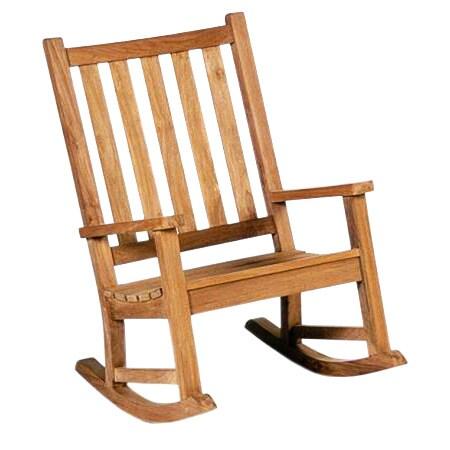 D Art Collection Teakwood Outdoor Rocking Chair