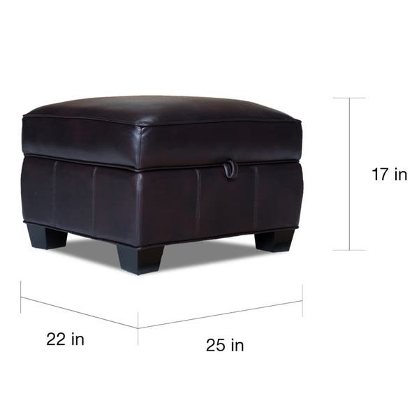 Pleasant Shop Aaron Leigh Black Cherry Leather Storage Ottoman Free Andrewgaddart Wooden Chair Designs For Living Room Andrewgaddartcom