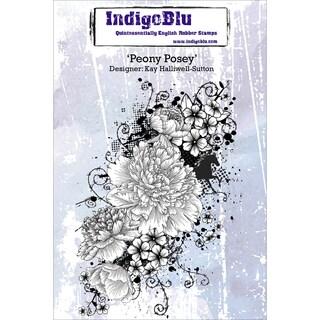 Indigoblu Cling Mounted Stamp -Peony Posey