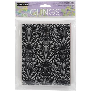 Hero Arts Cling Stamps 4.25X6.25-Tropical Background
