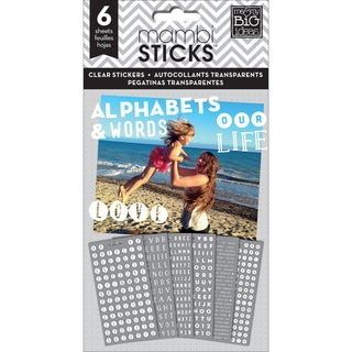 Me & My Big Ideas Pocket Pages Clear Stickers 6 Sheets/Pkg-Alpha Words - Our Life