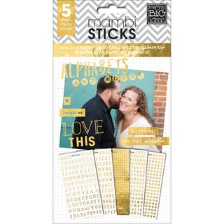 Me & My Big Ideas Pocket Pages Clear Stickers 6 Sheets/Pkg-Alpha Words - Hey Girl