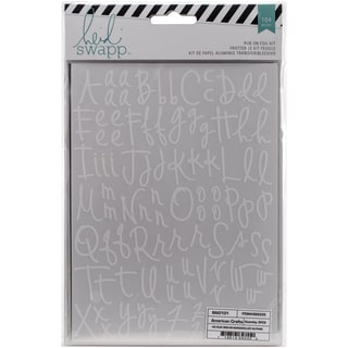 "Wanderlust Rub-On Foil Kit 5.5""X7.5""-Alphas/Silver"